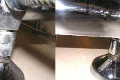 NS400 AntyCal przy zmywaniu kamienia z armatury łazienkowej